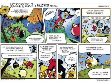 Angry Birds Seasons Halloween Comic Part 1