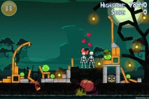 Angry Birds Seasons Hamoween Big Black Pumpkin Golden Egg Level 25