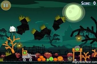 Angry Birds Seasons Ham'o'ween Golden Egg #26 Walkthrough