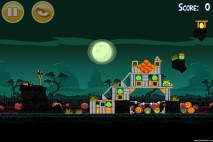Angry Birds Seasons Hamoween Golden Egg Location Level 2-2