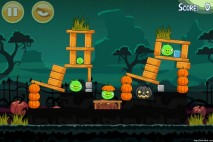 Angry Birds Seasons Ham'o'ween Level 1-1 Walkthrough
