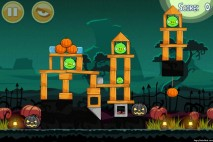 Angry Birds Seasons Ham'o'ween Level 1-2 Walkthrough