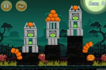 Angry Birds Seasons Ham'o'ween Level 1-3 Walkthrough