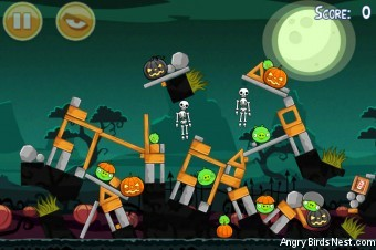 Angry Birds Seasons Ham'o'ween Level 1-8 Walkthrough