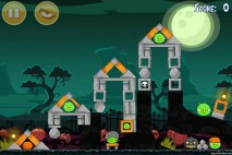Angry Birds Seasons Ham'o'ween Level 2-11 Walkthrough