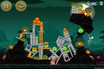 Angry Birds Seasons Ham'o'ween Level 2-6 Walkthrough