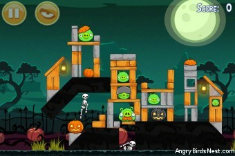 Angry Birds Seasons Ham'o'ween Level 2-9 Walkthrough