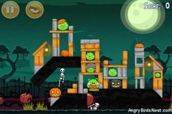 Angry Birds Seasons Ham'o'ween Level 2-9 Walkthrough