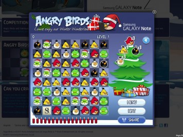 Angry Birds Advent Challenge Samsung Galaxy Note