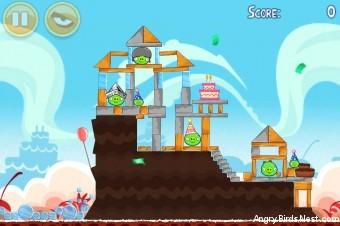 Angry Birds Birdday Party Cake 2 Level 10 (18-10) Walkthrough
