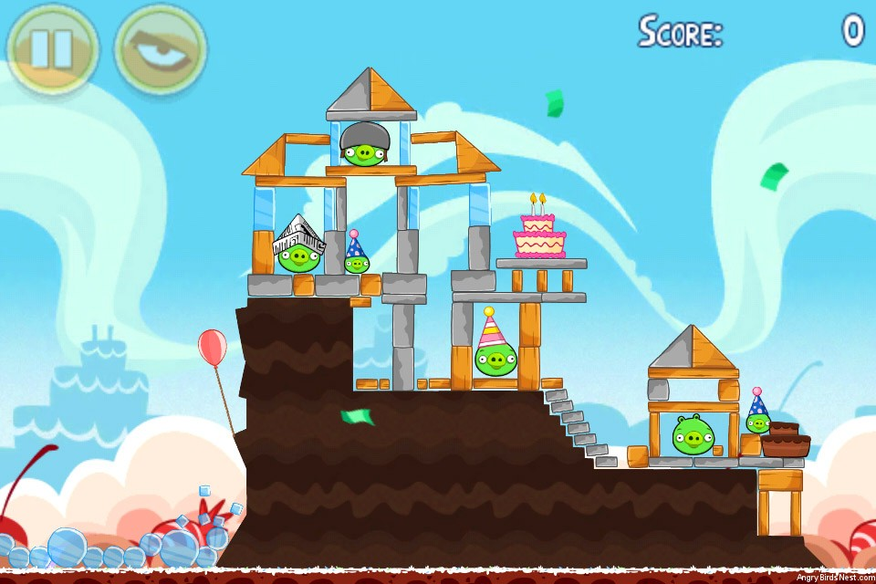Angry Birds Birdday Party Cake 2 Level 10 (18-10 ...