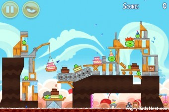 Angry Birds Birdday Party Cake 2 Level 15 (18-15) Walkthrough