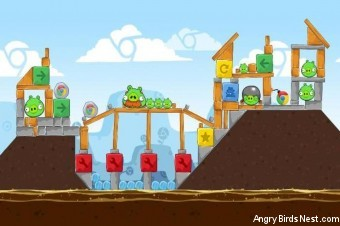 Angry Birds Chrome Dimension Level #12 Walkthrough