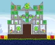 Angry Birds Chrome Logo Location Level 8-2