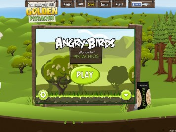Angry Birds Pistachios Main Screen