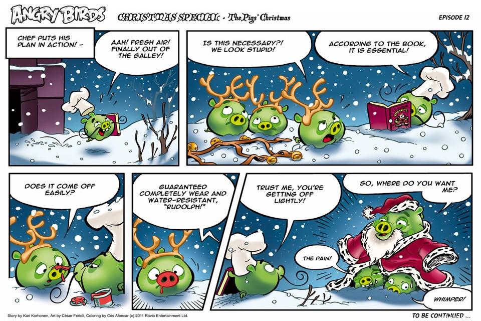 Christmas Comics.Angry Birds Seasons Christmas Comic All Parts Angrybirdsnest