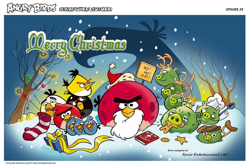 Angry Birds Seasons Christmas Comic (all parts) | AngryBirdsNest
