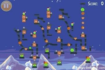 Angry Birds Seasons Wreck the Halls Golden Egg #27 Walkthrough