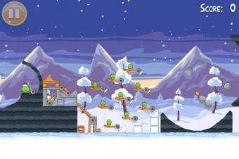 Angry Birds Seasons Wreck the Halls Golden Egg #28 Walkthrough