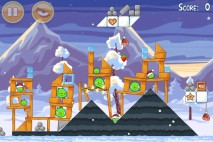 Angry Birds Seasons Wreck the Halls Level 1-1 Walkthrough