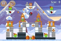 Angry Birds Seasons Wreck the Halls Level 1-12 Walkthrough