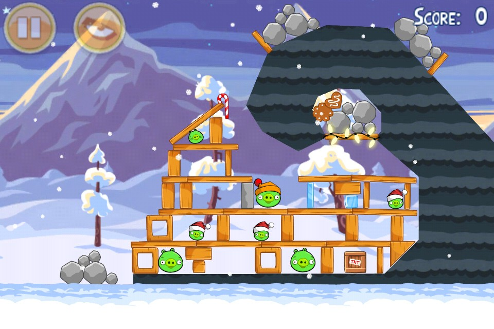 Angry Birds Seasons Wreck the Halls Level 1-13