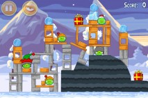 Angry Birds Seasons Wreck the Halls Level 1-14 Walkthrough