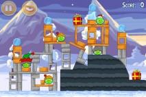 Angry Birds Seasons Wreck the Halls Level 1-14 Walkthrough