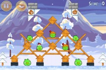 Angry Birds Seasons Wreck the Halls Level 1-15 Walkthrough