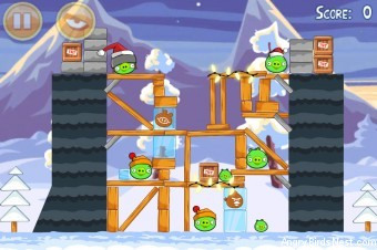 Angry Birds Seasons Wreck the Halls Level 1-19 Walkthrough