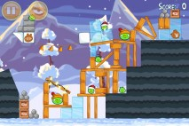 Angry Birds Seasons Wreck the Halls Level 1-2 Walkthrough