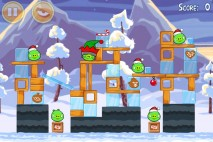 Angry Birds Seasons Wreck the Halls Level 1-21 Walkthrough