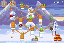 Angry Birds Seasons Wreck the Halls Level 1-24 Walkthrough