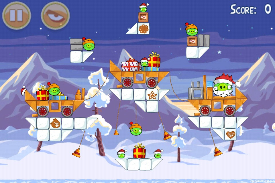 Angry Birds Seasons Wreck the Halls Level 1-25
