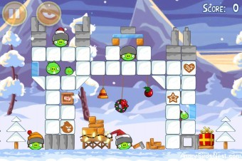 Angry Birds Seasons Wreck the Halls Level 1-3 Walkthrough