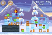 Angry Birds Seasons Wreck the Halls Level 1-4