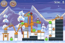 Angry Birds Seasons Wreck the Halls Level 1-5 Walkthrough