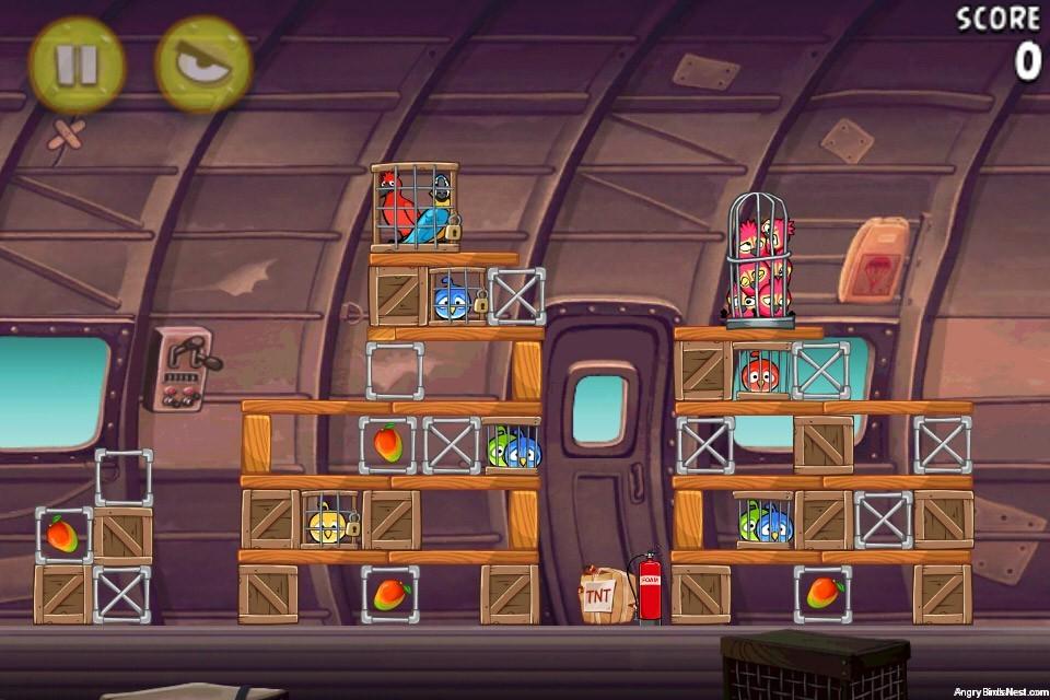 Angry Birds Rio Smugglers Plane Level 12-12