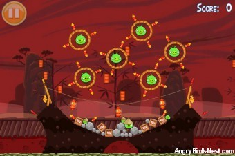Angry Birds Seasons Year of the Dragon Golden Egg #30 Walkthrough