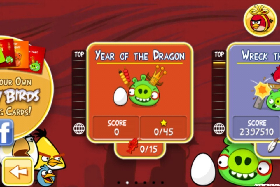 Angry Birds Seasons Year of the Dragon Episode Selection Screen