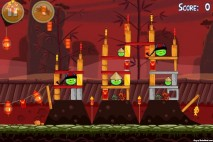 Angry Birds Seasons Year of the Dragon Level 1-1 Walkthrough