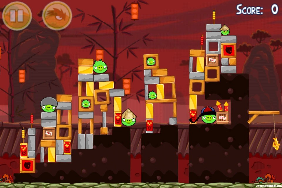 Angry Birds Seasons Year of the Dragon Level 1-11