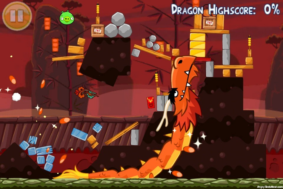 Angry Birds Seasons Year of the Dragon Mighty Dragon in Action