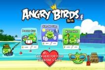Angry Birds Facebook Episode Selection Screen
