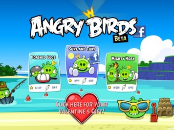Angry Birds Facebook Episode Selection Screen