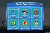 Angry Birds Facebook Shop Home Screen