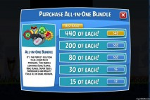 Angry Birds Facebook Shop Purchase All In One Bundle