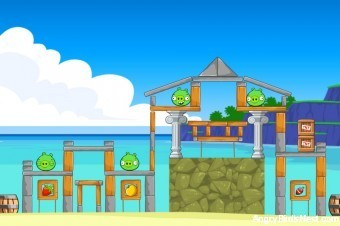 Angry Birds Facebook Surf and Turf Level 10 Walkthrough