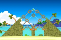 Angry Birds Facebook Surf and Turf Level 12 Walkthrough