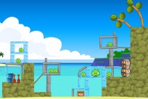 Angry Birds Facebook Surf and Turf Level 13 Walkthrough